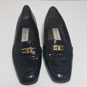 Etienne Aigner Vintage Black Leather Flats